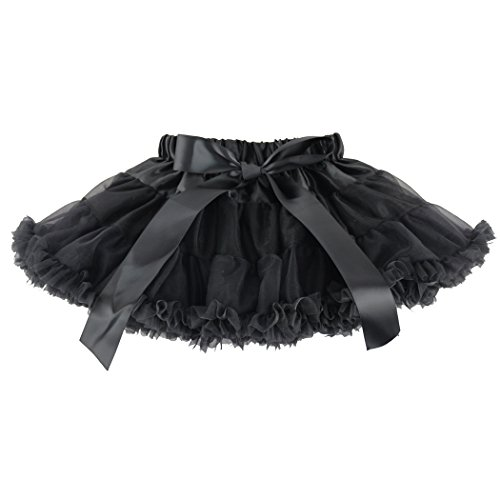 Wennikids la danza de Little Girl Chifón pettiskirts Tutu Assorted Tamaño y color, color negro, talla XX-Large Tall / 7-8