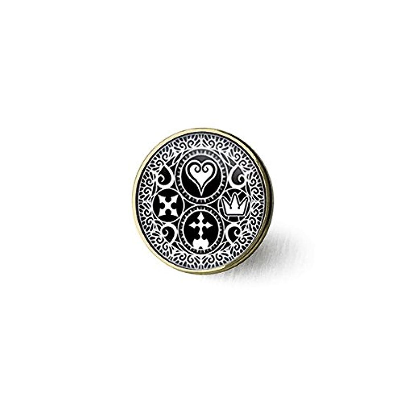 hars Handmade Kingdom Hearts Ultimania Trinity Emblem Brooch, Brooch Gift for Her Him, Nekel Free Jewelry