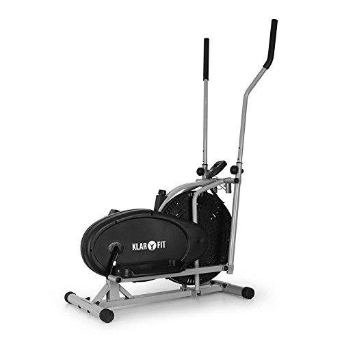 Klarfit ORBIFIT Basic Cardio training complet - Vélo elliptique crosstrainer, ordinateur ergomètre et pulsomètre intégré, entrainement musculatoire complet Fessiers, Bras et posture - Acier