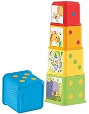 Fisher-Price CDC52 Kleurrijke stapeldobbelstenen motorisch speelgoed voor sorteren en stapelen, vanaf 6 maanden