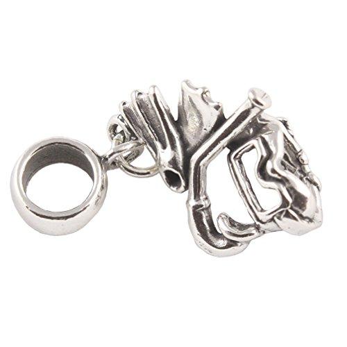 Sterling Silber Divers Maske und Schnorchel Flossen Dangle Bead/Charm, für europäische Armbänder