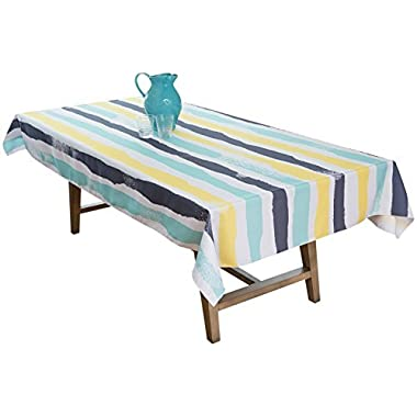 BottleCloth Multi Mod Premium Tablecloth - Superior Quality, Easy Clean, Spill Resistant, and Washable. Made from 100% Recycled Materials. Assorted colors and sizes. (60  x 102  Rectangle-Lemon Zest)
