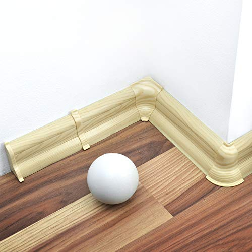 [DQ-PP] Verbinder 52mm PVC Ahorn Laminatleisten Fussleisten aus Kunststoff PVC Laminat Dekore Fußleisten