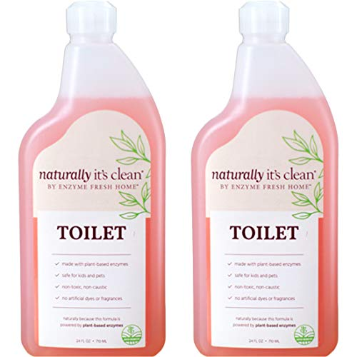 Naturally It s Clean Toilet Cleaner, Cleans Toilet Bowls, Bidets, Urinal Surfaces, Porcelain, Fiberglass and Hardwater Buildup, Plant-Based Enzyme 24oz Spray - Pack of 2