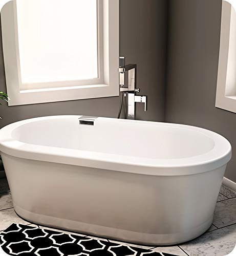 %21 OFF! NEPTUNE Freestanding RUBY Bathtub 36x66, Mass-Air/Activ-Air, Ice gray, High Gloss Acrylic