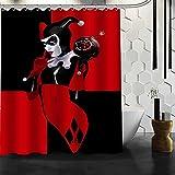 Cortina de Ducha Impermeable y Resistente al Moho Custom Harley Quinn Highbathroom Accesorios Cortina de Tela de poliéster con Agujeros 180x180cm