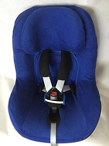 Sommerbezug Schonbezug Frottee von EKO passend für Maxi-cosi Pearl, Pearl Pro und 2wayPearl Frottee 100{7cba16d7b1bed4e39ba0a65e5aae2c96baab7ad0d0c81ae9eb5096512a11bbe9} Baumwolle blau