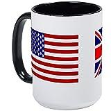 XCNGG American Pride Mug Tazza da caffè da 15 once - Adatto al microonde e alla lavastoviglie - Costituzione degli Stati Uniti, bianco