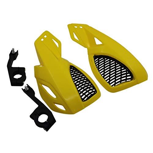 Guardia Protector de Guardia de Mano de la Mano de la Motocicleta Protector de Manillar 22 mm Protector de Manillar Manual de Manillar Protección de Manillar Accesorios universales (Color : Yellow)
