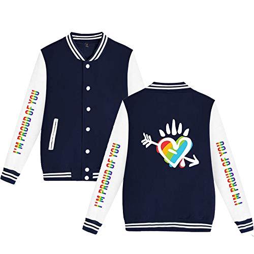 Unisex Bedrukte Pilotenjas LGBT Jas Klassiek Honkbal Retro Tops Jas Bomberjack Sweatshirt Herfst Winter Vest College Hip Hop Blazer Bovenkleding