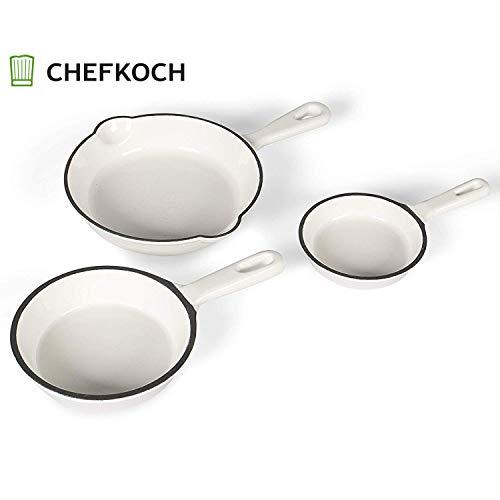 Chefkoch Pfanne, Gusseisen 3er-pfännchen, 15.5 cm