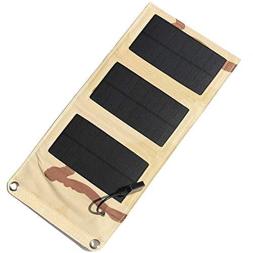 EastMetal Power Bank Solar Portátil, 6W Cargador Solar con Puerto USB, Placa Solar Power Bank Impermeable con 3 Paneles Solares Pliegue, para Teléfono Inteligente, Tablet, Drone, Reloj Inteligente