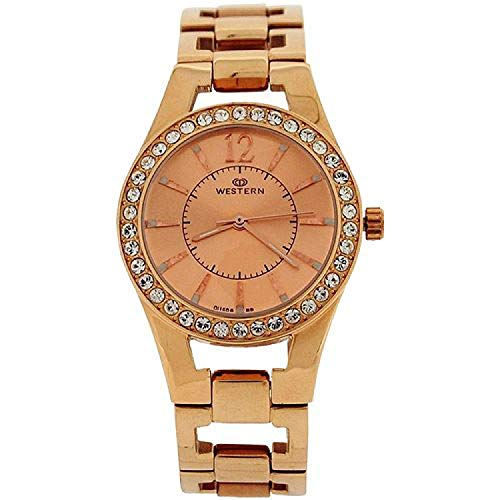Western Moment Ladies Ava Rosegold Tone Dial & All Stainless Steel Smart Watch