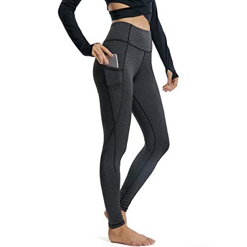 FITTOO Women's Pockets Yoga Pants High Waist Tummy Control Workout 4-Way Stretch Leggings