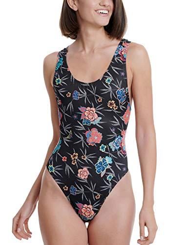 FUNKY BUDDHA Women's Swimsuit in Stripe Pattern Multicolour in Size Large