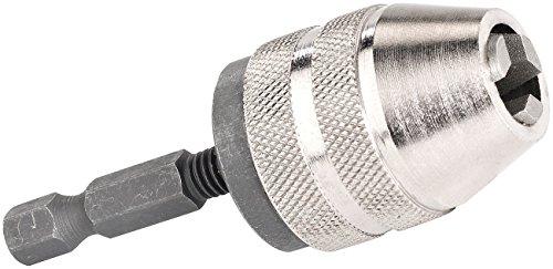 AGT Minibohrfutter: Schnellspann-Bohrfutter für Akku-Schrauber, Spannweite 0,5-6,5 mm (Schnellspannbohrfutter)