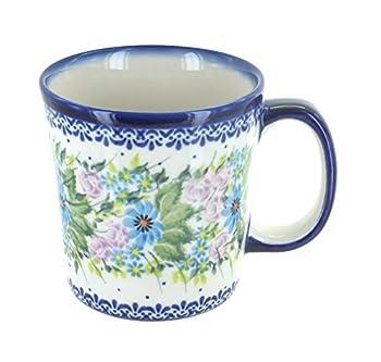 Blue Rose Polish Pottery Lavender Meadow Coffee Mug