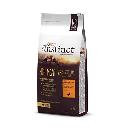 True Instinct High Meat Kitten - Nature's Variety - Pienso para gatitos con pollo deshuesado 7kg 🔥