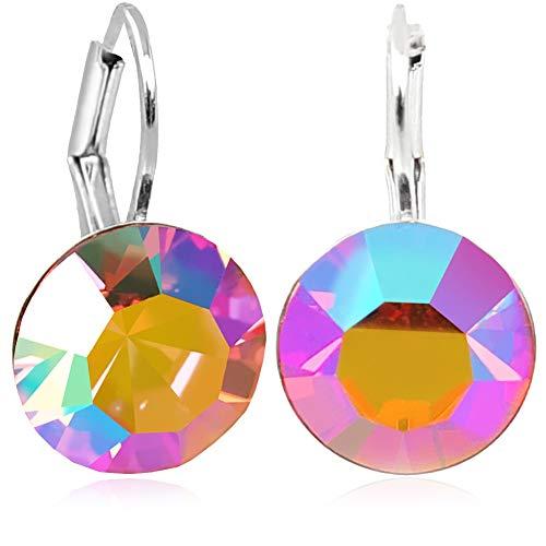 Ohrringe Silber Rosa mit Kristallen von Swarovski® NOBEL SCHMUCK
