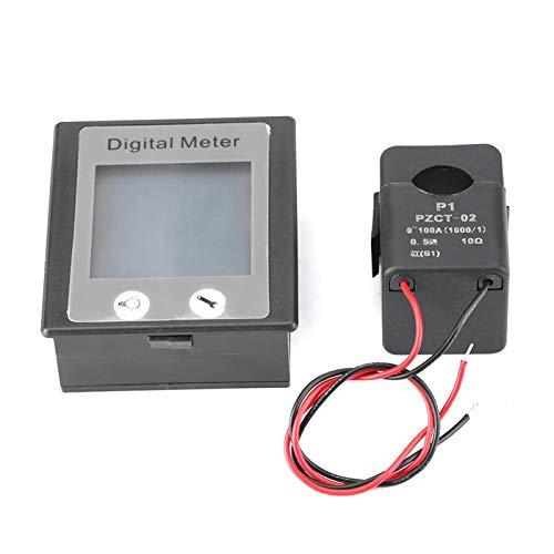 Amperímetro, voltímetro, voltaje actual, vatios, panel de energía, multifunción digital, medidor de voltios y amperios LCD, probador de KWh para interiores