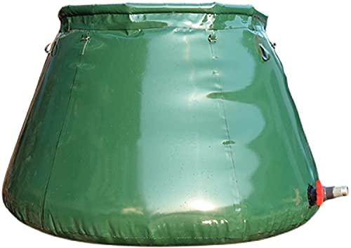 WXking Recipiente de almacenamiento de agua al aire libre de gran capacidad, colector de agua de lluvia al aire libre plegable con grifo, tanque de almacenamiento de agua suave espesado portátil, util