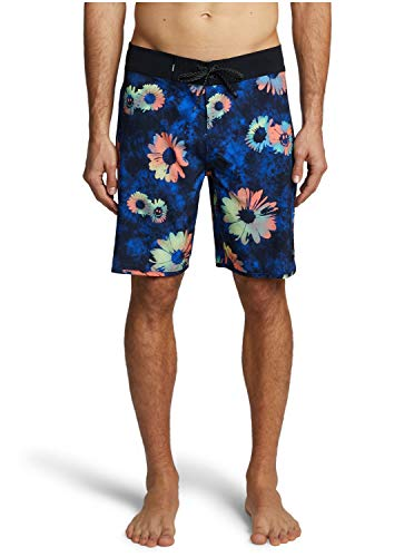 "Quiksilver Mens Highline Sprayed Daisy 19"" - Board Shorts for Men Boardshorts Purple 33"