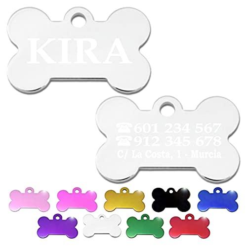 Hueso para Mascotas pequeñas-Medianas Placa Chapa Medalla de...
