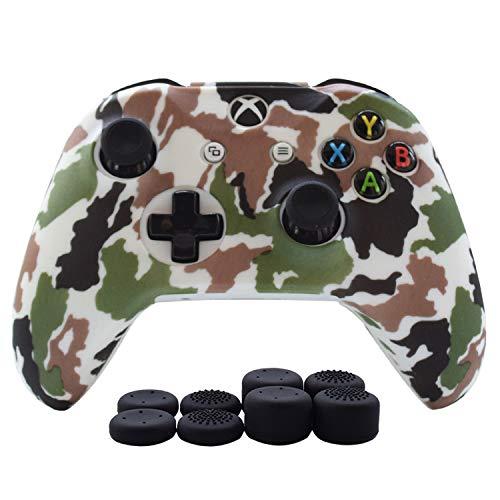 Hikfly Silicona Gel Control de Aceite de Goma Cubierta de Piel Protectora Caso Faceplates Kits para Xbox One Control Juegos de Controladores(Azul)