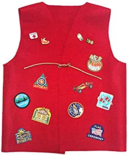 Cub Girl Boy Youth - Medium Acrylic Felt Patch Vest for Patches (NO PATCHES INCLUDED), Pins and Badges.