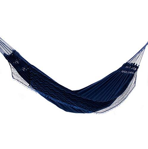 Rede de Dormir Jeans Mesclado Azul com Preto