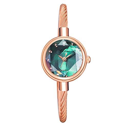 Reloj de pulsera, estilo reloj de cuarzo, degradado, moderno, temperamento, femenino, verde oscuro