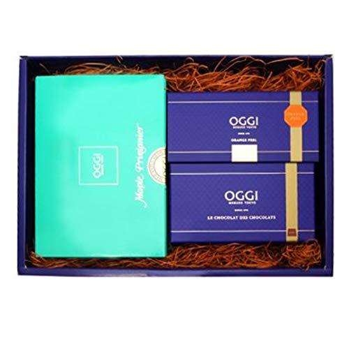 OGGI オッジ チョコレート ショコラ・メープルセット (プティショコラプレーン、メープル15枚、オレンジピール90g)