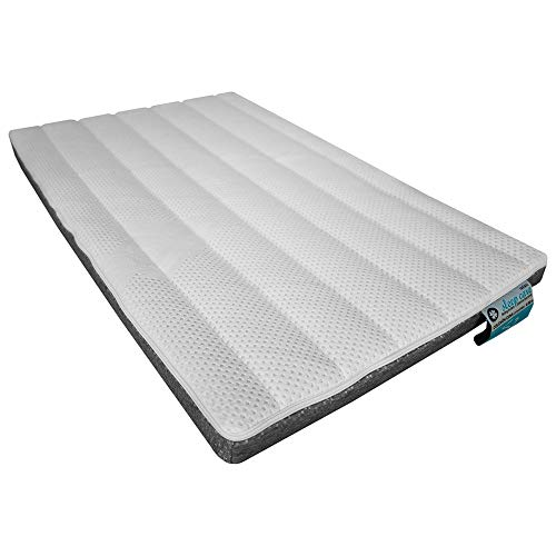 Trebol Sleep Care Colchón Mini Cuna S2, Blanco/Gris, 50 x 80