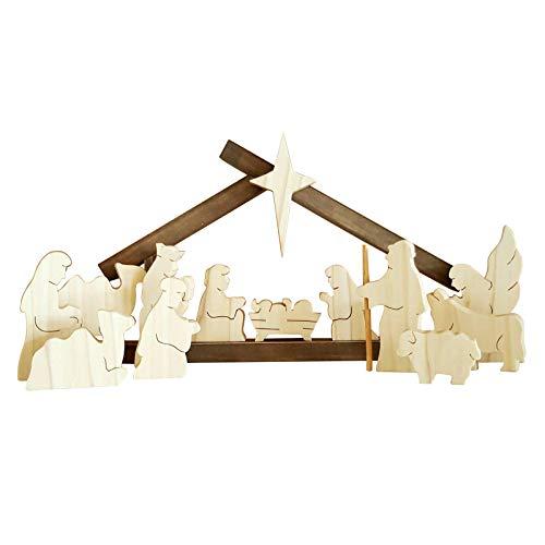 1 juego de regalos de madera de Pascua para manualidades, decoración de escena de cristiano Jesús, para día de Pascua, resurrección, fiesta, decoración del hogar