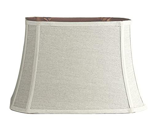 Mestar Decor White Bell Rectangle Cut Corner Lampshade 8/13x11/17x10.75 (Spider)