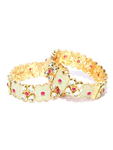 YouBella Ethnic Bollywood Gold Plated Traditional Indian Bracelet Bangle Jewellery for Women and Girls (6.3)