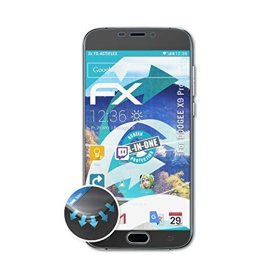 atFolix Schutzfolie kompatibel mit DOOGEE X9 Pro Folie, ultraklare & Flexible FX Bildschirmschutzfolie (3X)