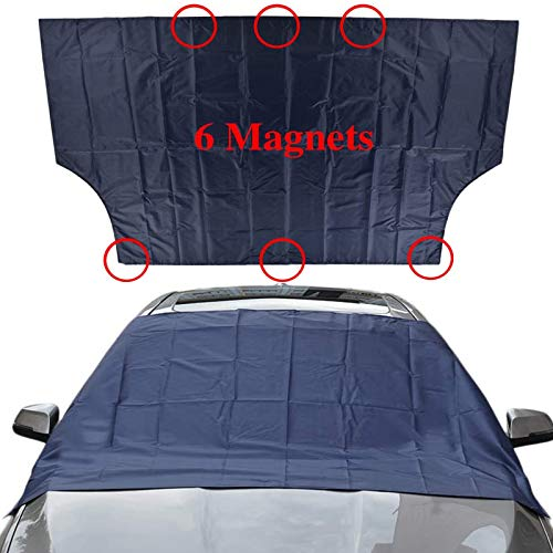 Use 600D Heavy-Duty Material to Help The Windshield Resist Ice and Snow! Szblnsm Car Windshield Snow Cover with Side Mirror Covers