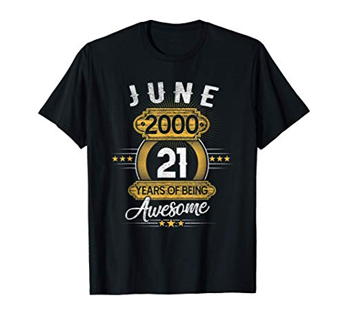 21 Year Old Retro June 2000 Limited Edition 21st Birthday T-Shirt