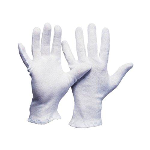 Leipold Paar Baumwoll-Trikot Handschuhe weiss, Gr. 9, 60 Stück