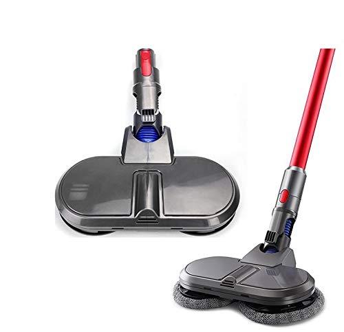 電動 回転クリーナーモップヘッド 掃除機対応 V7 SV11 V8 SV10 V10 V11 SV12 SV14 コードレス フローリング掃除 床掃除 フロア モップ 床水拭き 軽量 クリーナー フロアワイパー モップ 乾湿両用 (水タンクは含まれていませ