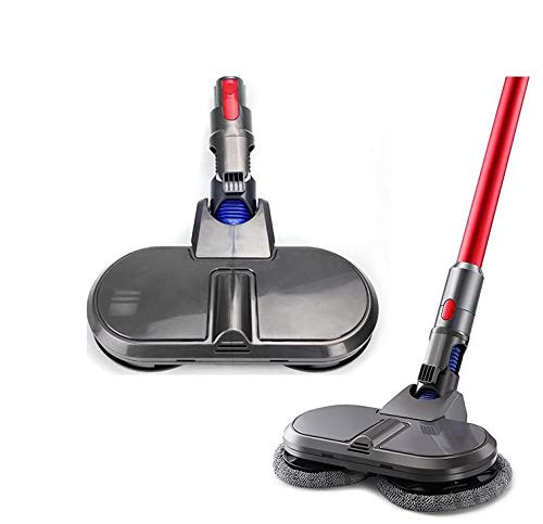 電動 回転 モップ 自走式 対応 ダイソン 掃除機V7 V8 V10 V11 コードレス フローリング掃除 床掃除 フロア モップ 床水拭き 軽量 クリーナー フロアワイパー モップ 乾湿両用 (V7V8V10V11回転式電気モッ)