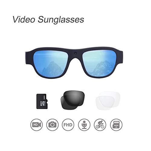 OHO Video Sunglasses, 32GB Ultra HD Outdoor Sports Action Camera with...