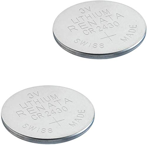 2 Stück Renata Batterie Knopfzelle CR2430 lithium Batterien, 3 V