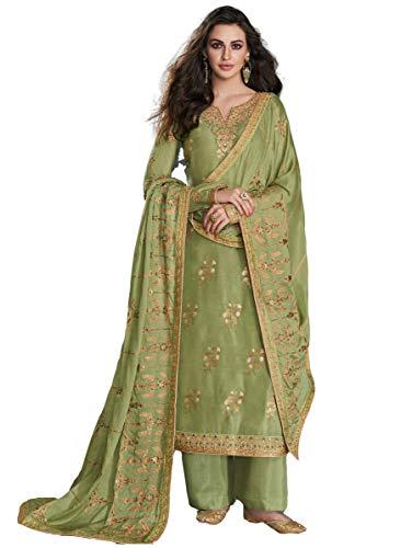 San Valentín especial exclusivo indio mujeres tradicional semi cosido traje Salwar s09