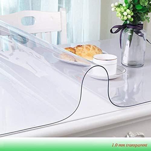 BECCYYLY Mantel Mantel Mantel Impermeable Transparente con el patrón de Cocina Mesa Cubierta de Aceite Suave del paño de Cristal Mantel 1,0 mm 60x60cm Mantel de Vidrio Blando