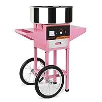 buoqua 1030w macchina per fare lo zucchero filato con carrellino macchina professionale zucchero filato contton candy in acciaio e carello macchina dello zucchero filato su carretto per festa