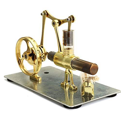 Motor Modelo de motor Colección motor monocilíndrico de regalo Mini aire caliente del motor Stirling Modelo Adecuado para el desarrollo de interés de los niño ( Color : Gold , Size : One size )