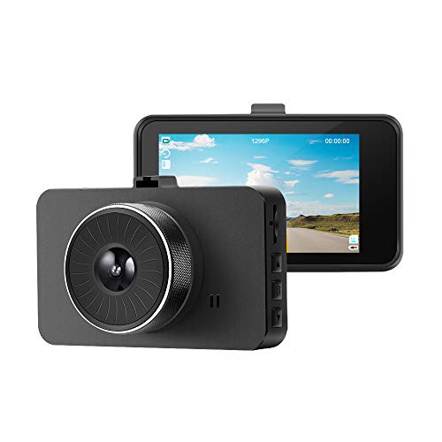 WD-Tech Mini Dash Camera - 1080P Full HD Car Dashboard Recorder, 3' LCD, Wide Angle Lens, GPS G-Sensor, Loop Recording, Uber Cars