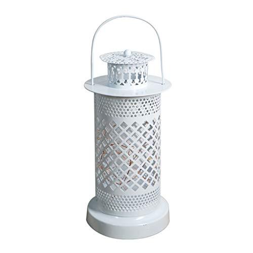 Elektrischer Kerzenständer zum Aufhängen, hohles Eisen, für Zuhause, Hotel, Restaurant, Wohnzimmer, Bastel-Laterne, vielseitig einsetzbar